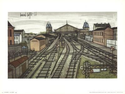 La Gare-Bernard Buffet-Art Print