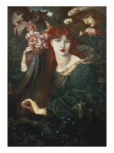 La Ghirlandata-Dante Gabriel Rossetti-Art Print