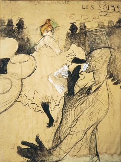 """La Goulue and Valentin Le Desosse at the """"Moulin Rouge""""-Henri de Toulouse-Lautrec-Art Print"""