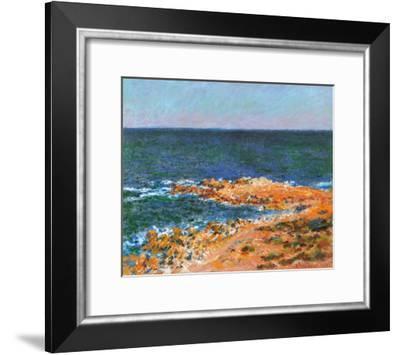 La Grande Bleue a Antibes, c.1888-Claude Monet-Framed Art Print