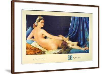 La Grande Odalisque-Jean-Auguste-Dominique Ingres-Framed Art Print