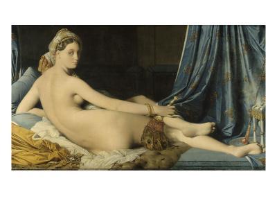 La Grande Odalisque-Jean-Auguste-Dominique Ingres-Giclee Print