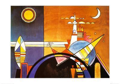 La Grande Piazza a Kiev-Wassily Kandinsky-Art Print