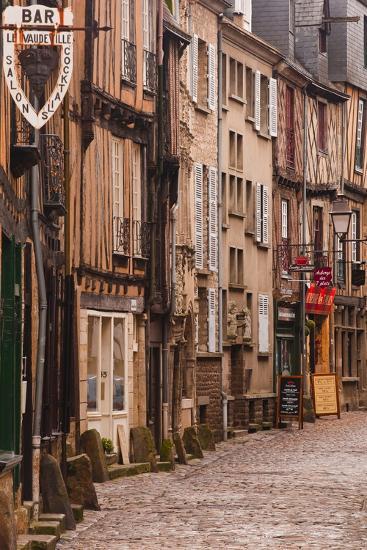 La Grande Rue in the Old City of Le Mans, Sarthe, Pays De La Loire, France, Europe-Julian Elliott-Photographic Print