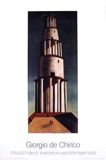 La Grande Torre-Giorgio De Chirico-Art Print