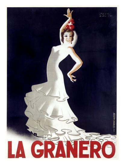 La Granero Flamenco Dance-Paul Colin-Giclee Print