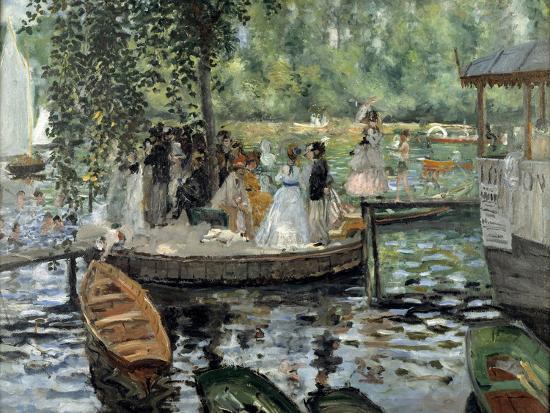 La Grenouillère, 1869-Pierre-Auguste Renoir-Premium Giclee Print