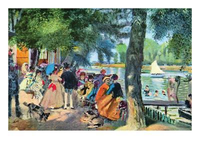 La Grenouillere-Pierre-Auguste Renoir-Art Print