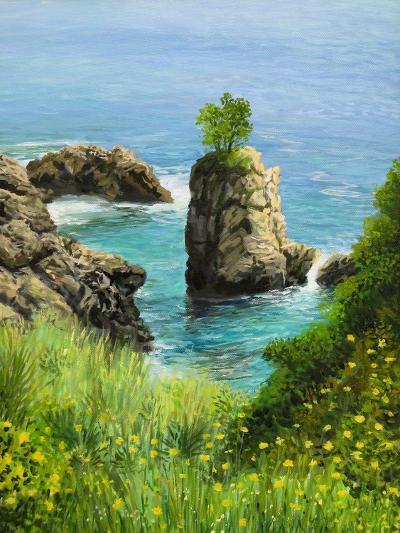 La Grotta On Island Corfu-kirilstanchev-Art Print