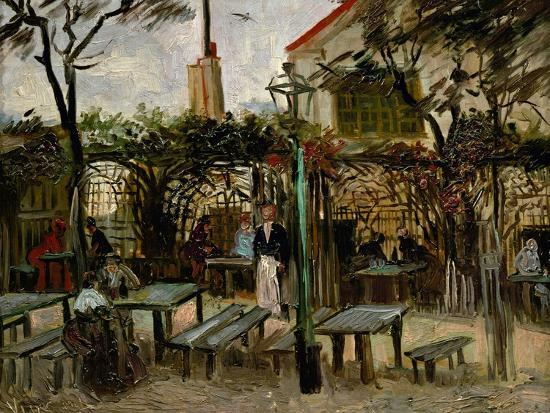 La Guinguette in Montmartre, c.1886-Vincent van Gogh-Premium Giclee Print