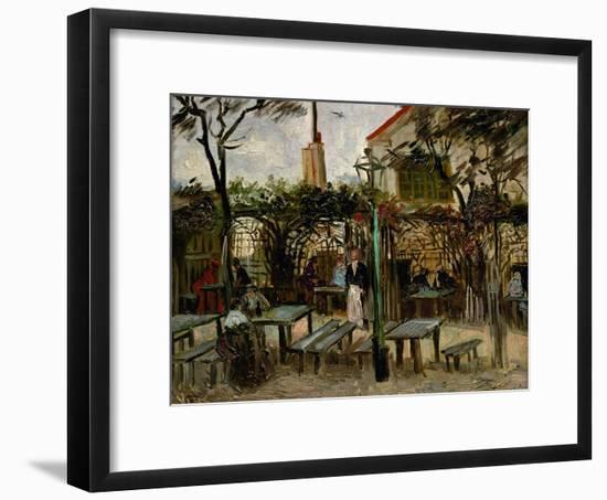 La Guinguette in Montmartre, c.1886-Vincent van Gogh-Framed Giclee Print
