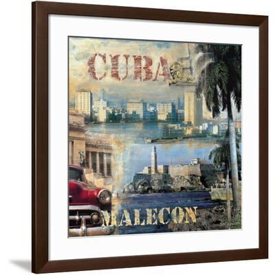 La Habana, Cuba II-John Clarke-Framed Art Print