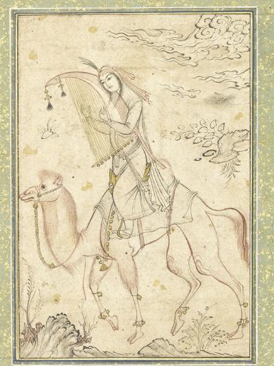 La Harpiste Azadeh à dos de chameau--Giclee Print