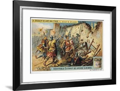 La Jerusalem Deliveree Par Le Tasse, the Assault on Jerusalem, 19th Century--Framed Giclee Print
