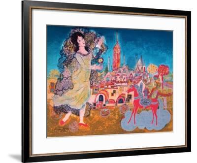 La jeune princesse-Agustin Ubeda-Framed Collectable Print