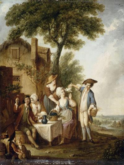La Jolie colombe-François Louis Joseph Watteau-Giclee Print