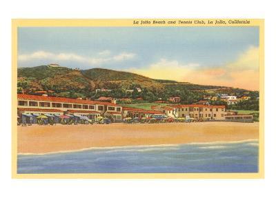 La Jolla Beach and Tennis Club, La Jolla, California--Art Print
