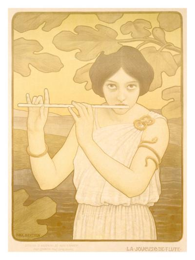 La Joyeuse de Flute-Paul Berthon-Giclee Print
