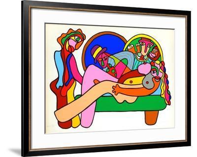 La leçon d'anatomie-Pedro Uhart-Framed Premium Edition