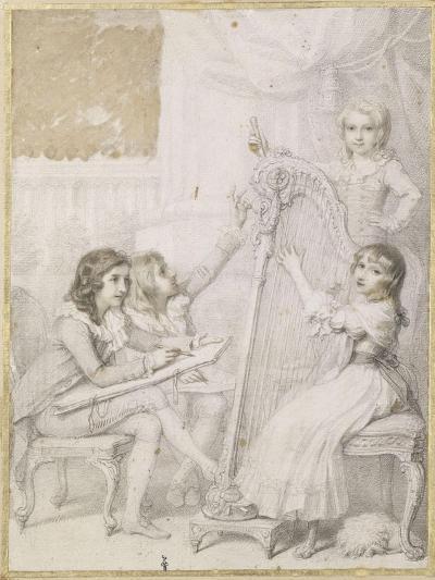 La leçon de dessin et de musique-Richard Cosway-Giclee Print