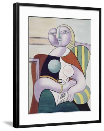 La lecture (Woman Reading)-Pablo Picasso-Framed Art Print