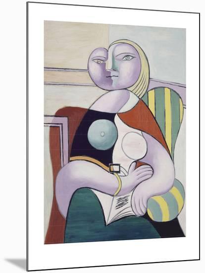 La lecture (Woman Reading)-Pablo Picasso-Mounted Art Print