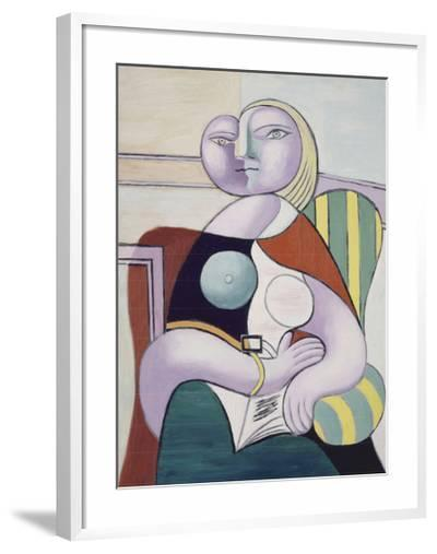 La lecture (Woman Reading)-Pablo Picasso-Framed Art Print