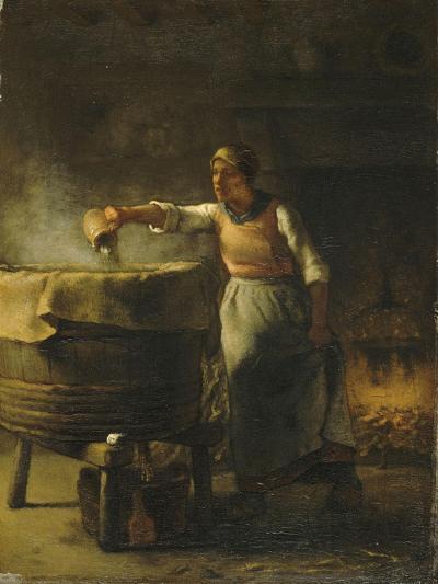La Lessiveuse-Jean-Fran?ois Millet-Giclee Print