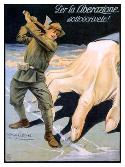 La Liberazione-Achille Luciano Mauzan-Giclee Print