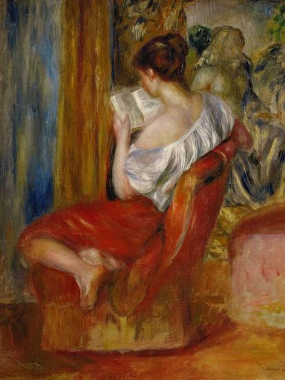 La liseuse-reading woman, around 1900. Oil on canvas, 56 x 46 cm.-Pierre-Auguste Renoir-Giclee Print