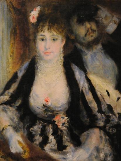 La Loge (The Theatre Bo), 1874-Pierre-Auguste Renoir-Giclee Print