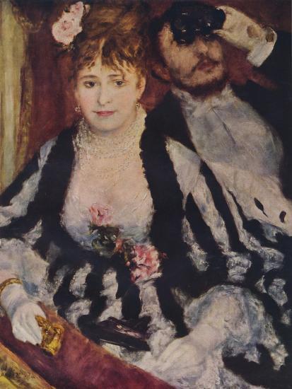 La Loge (The Theatre Box), 1874, (1938)-Pierre-Auguste Renoir-Giclee Print