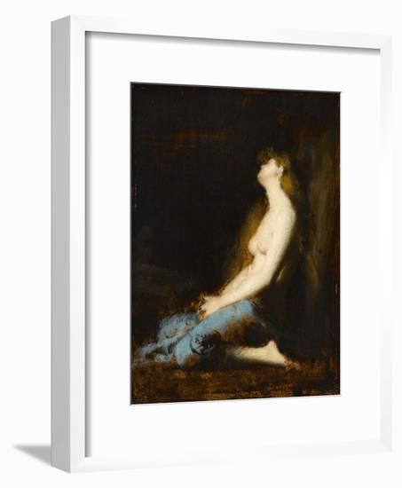 La Magdeleine,étude ou réplique du tableau du salon de 1878-Jean Jacques Henner-Framed Giclee Print