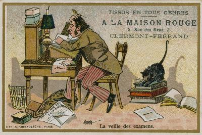 La Maison Rouge Trade Card, the Eve of the Exams--Giclee Print