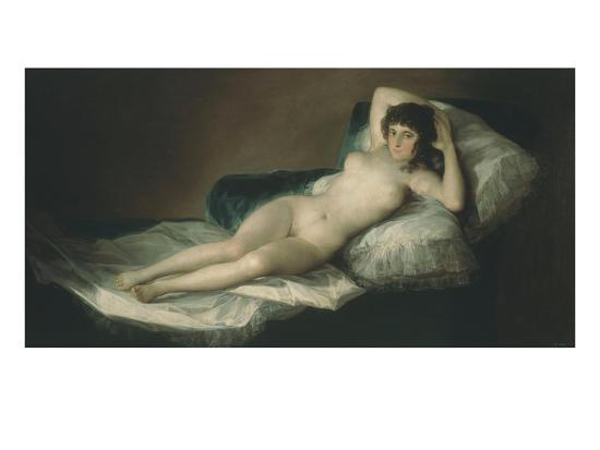 La Maja Desnuda The Nude Maja 1797 1800 Giclee Print By Francisco De Goya Artcom