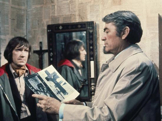 La Malediction THE OMEN by Richard Donner with David warner and Gregory Peck, 1976 (photo)--Photo