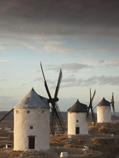 La Mancha Windmills, Consuegra, Castile-La Mancha Region, Spain-Walter Bibikow-Photographic Print