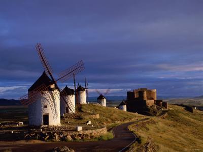 La Mancha, Windmills, Consuegra, Castilla-La Mancha, Spain-Steve Vidler-Photographic Print