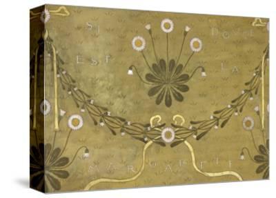 La Margarete, Wallpaper Design-William Morris-Stretched Canvas Print