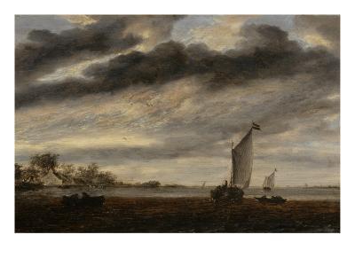 La Marine d'Or, soleil couchant-Salomon Van Ruysdael-Giclee Print