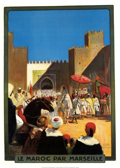 La Maroc Par Marseille-Maurice Romberg-Art Print