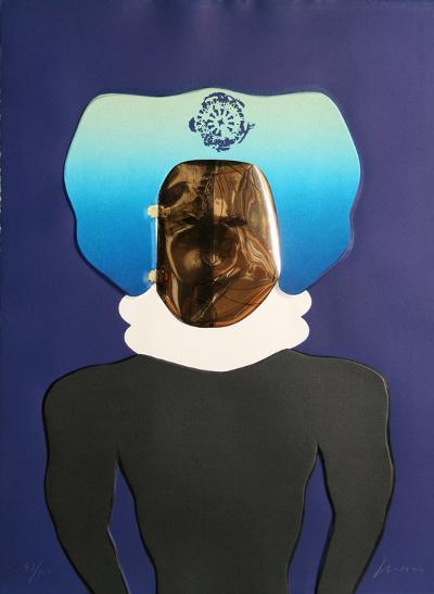 La Mascara from the Homage to Quevedo Portfolio-Jose Luis Cuevas-Limited Edition