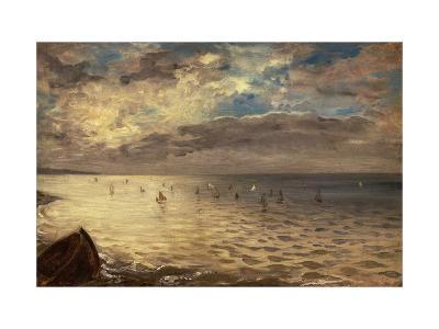 La Mer vue des hauteurs de Dieppe-Eugene Delacroix-Giclee Print