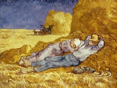 La Méridienne Ou La Sieste, Siesta at Noon, after 1866 Pastel Drawing by Millet, 1890-Vincent van Gogh-Giclee Print