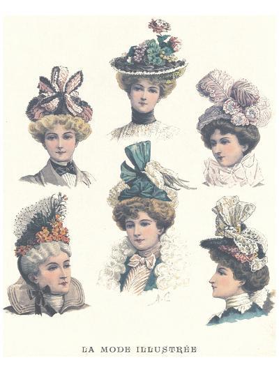 La Mode Illustree, Chapeaux II--Art Print