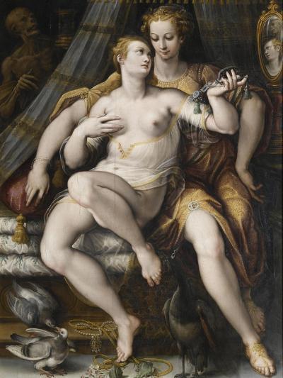 La Moderation désarmant la Vanité-Jan van der Straet-Giclee Print