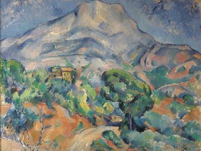 La montagne Sainte-Victoire au-dessus de la route du Tholonet-Paul C?zanne-Giclee Print