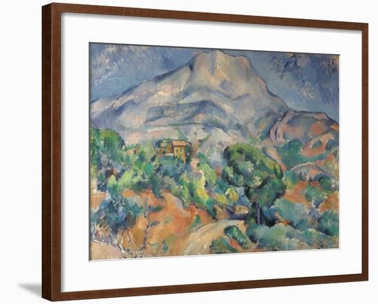 La montagne Sainte-Victoire au-dessus de la route du Tholonet-Paul Cézanne-Framed Giclee Print
