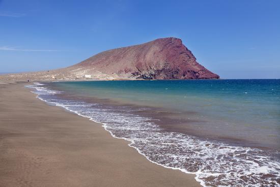 La Montana Roja Rock and Playa De La Tejita Beach, Spain-Markus Lange-Photographic Print
