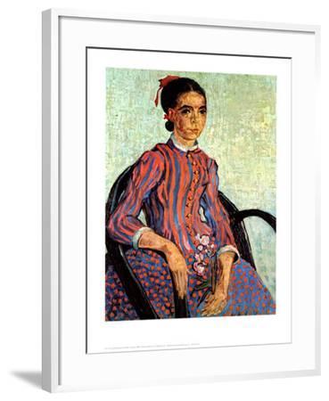 La Mousme-Vincent van Gogh-Framed Art Print